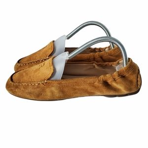 Taryn Rose Brown Suede Driving Moccasins Loafers 8
